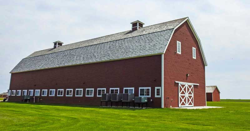 Historic barn on the Bagg Bonanza Farm in North Dakota.