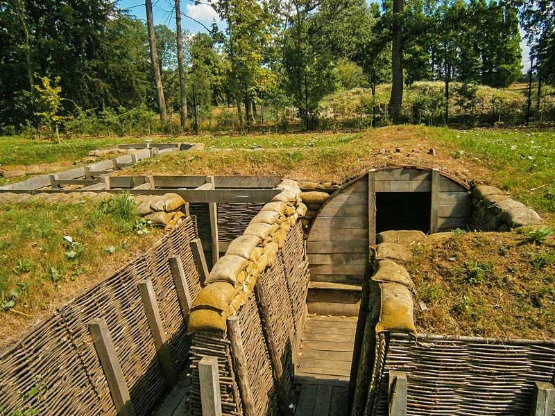 Passchendaele trenches