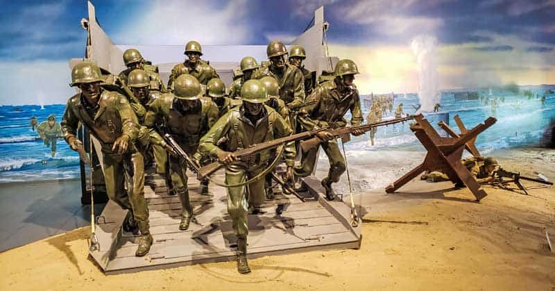 D-Day display at Fagen Fighters WWII Museum.