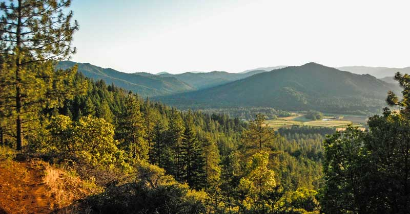 Multi-use Bolt Mountain Trail near Grants Pass