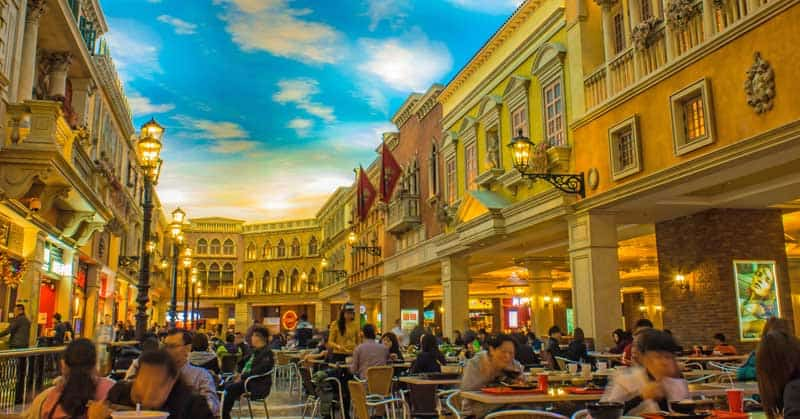 MACAO: Venetian Hotel is the famous shopping mall, luxury hotel and the largest casino in the world. — Photo by jhk2303