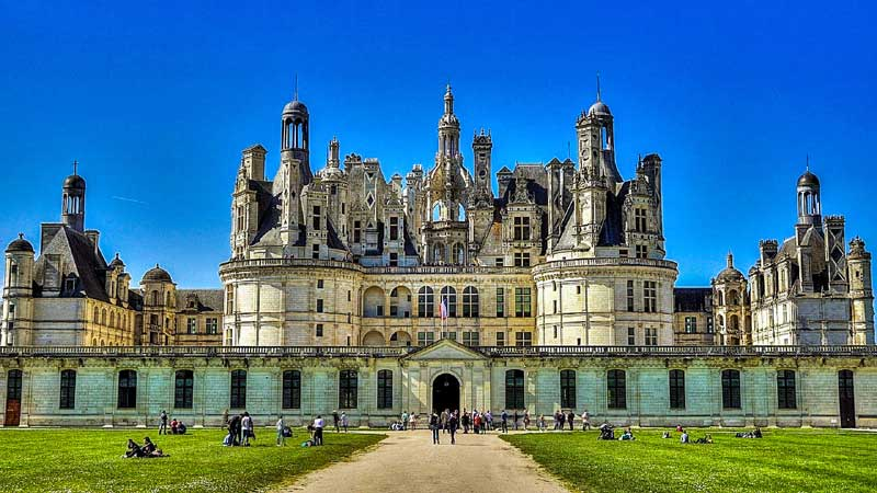 Chateau De Chambord UNESCO Heritage site of The Loire Valley between Sully-sur-Loire and Chalonnes