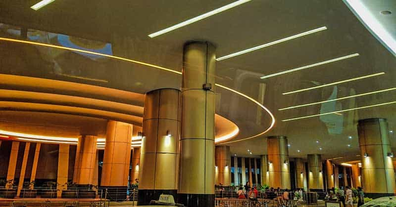 Futuristic entrance to the City Of Dreams Casino in Manila.