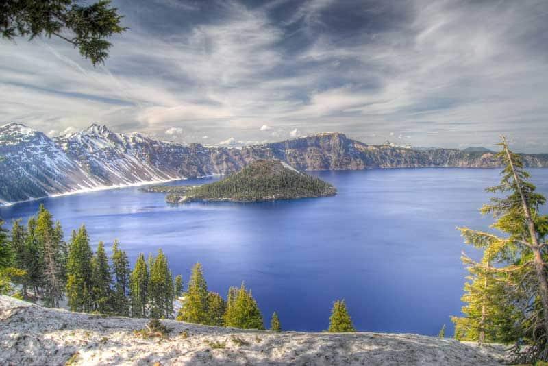 Crater Lake in Oregon.