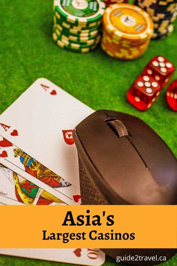 Check out the largest casinos in Asia - these five casinos include two in Macau, one in Philippines, and two online | #casinos #gambling #travel