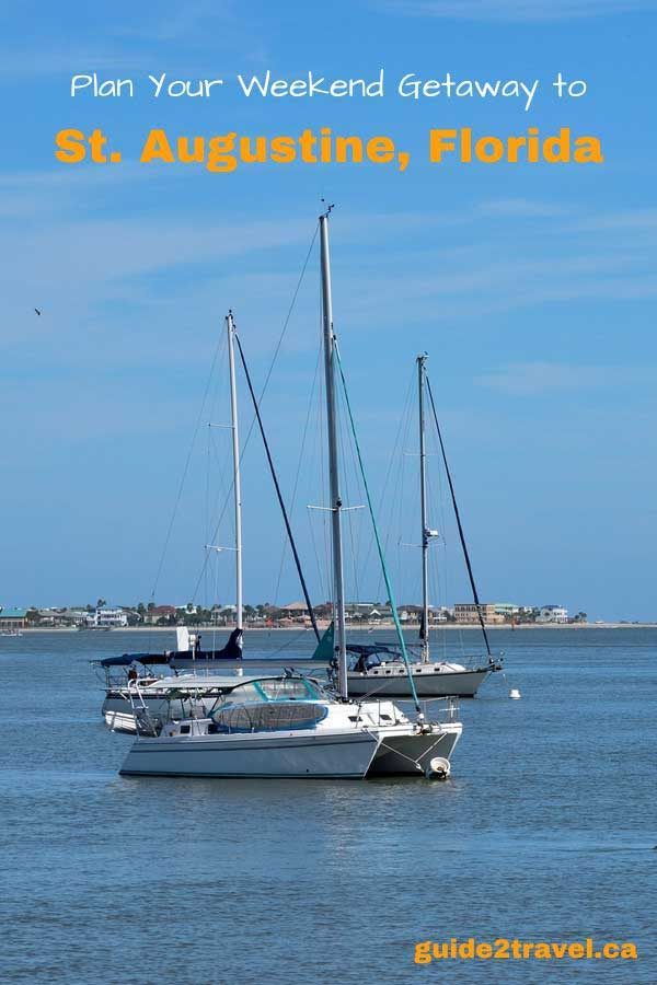Sailboats on the river at St. Augustine, Florida.