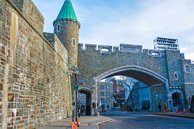 Quebec City is the only walled-in city in North America.