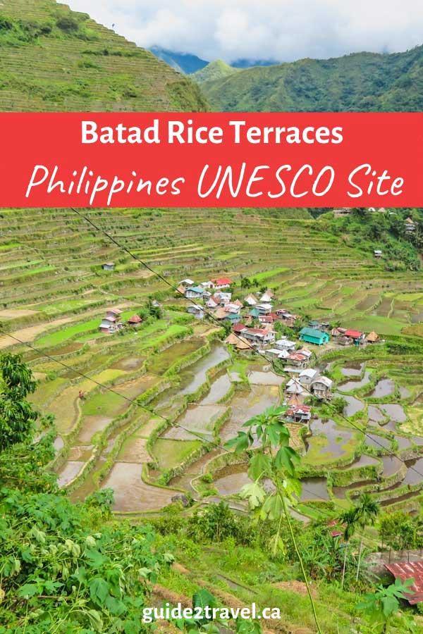 Batad rice terraces Philippines UNESCO site.