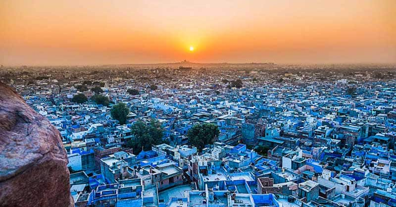 Blue City in India.