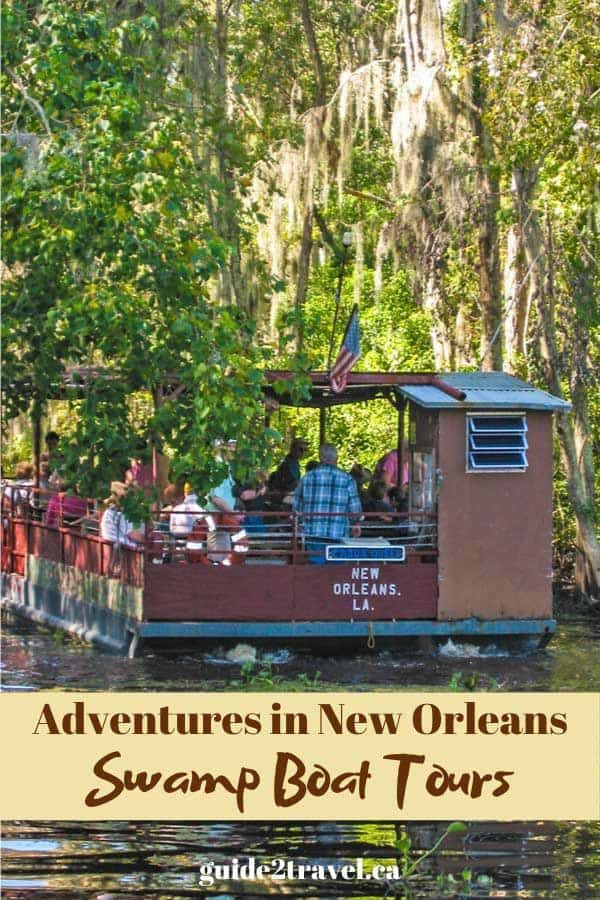 Swamp boat tour outside New Orleans.