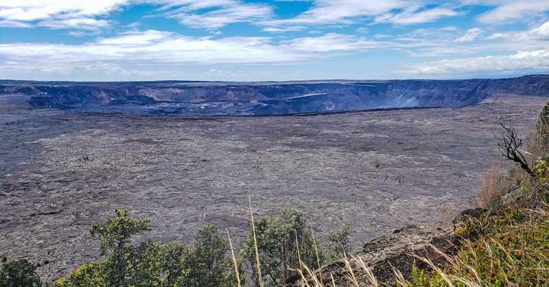 Volcanoes National Park - Kilauea volcanic crater.