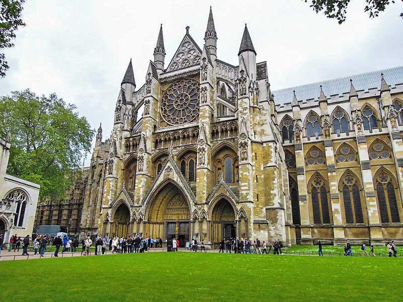 Westminster Abbey in London.