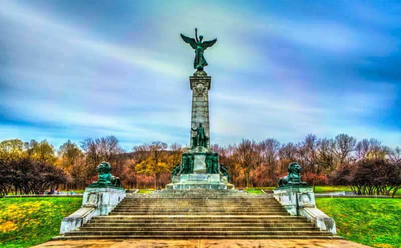 Sir George Etienne Cartier Monument at Mount Royal in Montreal - Quebec, Canada