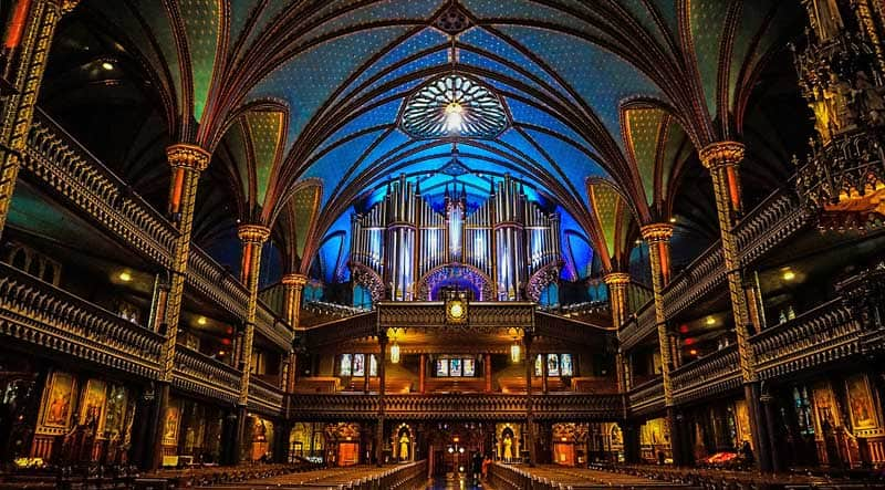 Notre Dame Cathedral in Montreal.