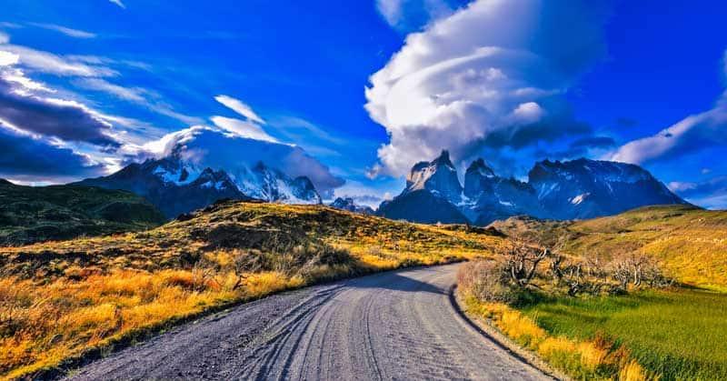 Fabulous clouds over park Torres del Paine