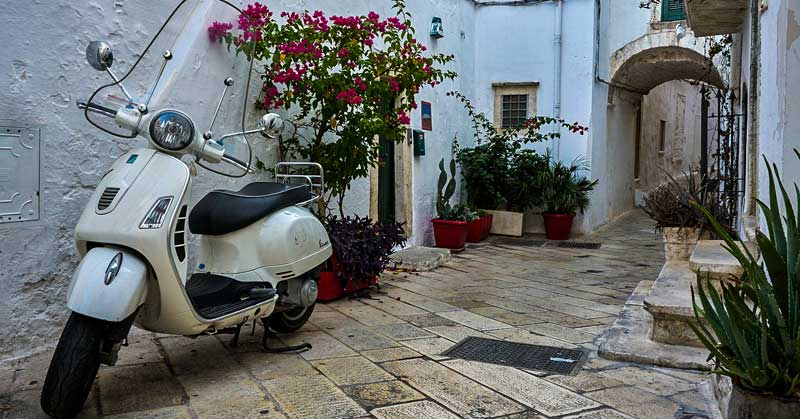 Taking Motorcycle road trips in an historic area of Italy