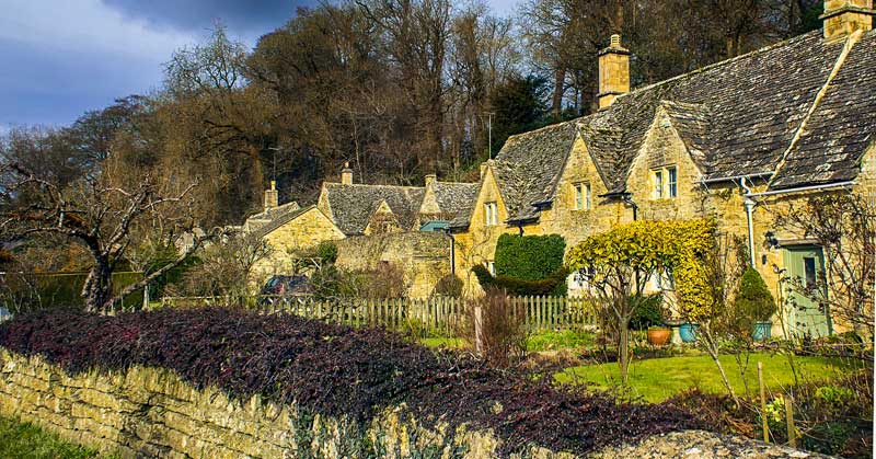 Village in Cotswolds.