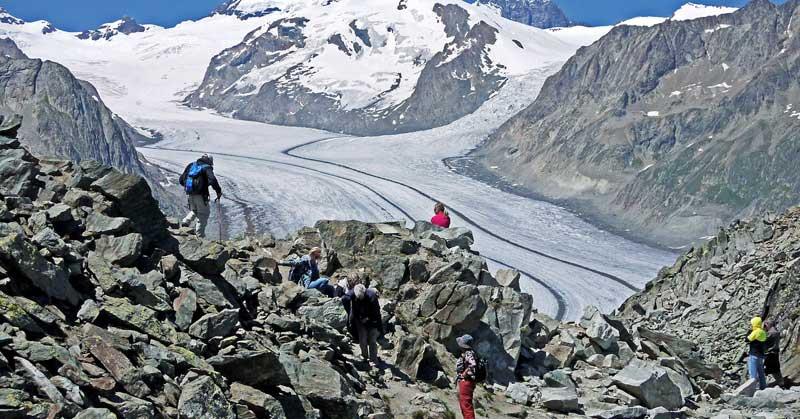 Great Aletsch Glacier in Switzerland.