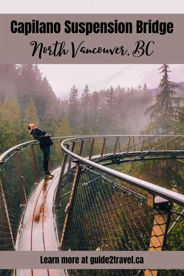 Capilano Suspension Bridge in British Columbia, Canada.