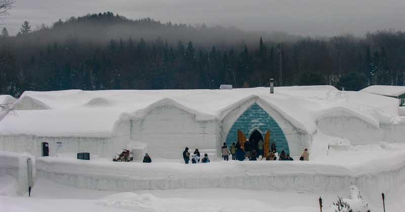 Ice Hotel in Quebec City.