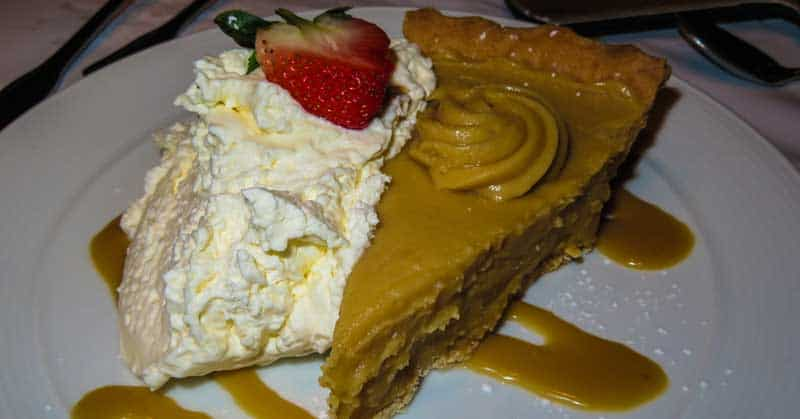 Sugar pie - a traditional French Canadian dessert.