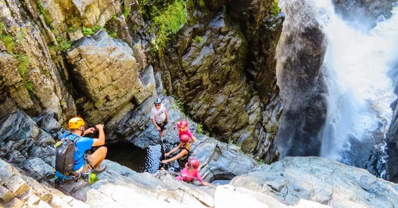 Via ferrata adventure experience at Canyon Sainte-Anne