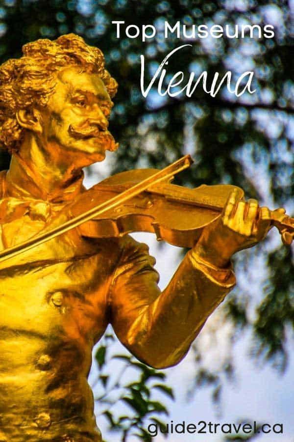 Visit historic Vienna - statue of a man playing a violin