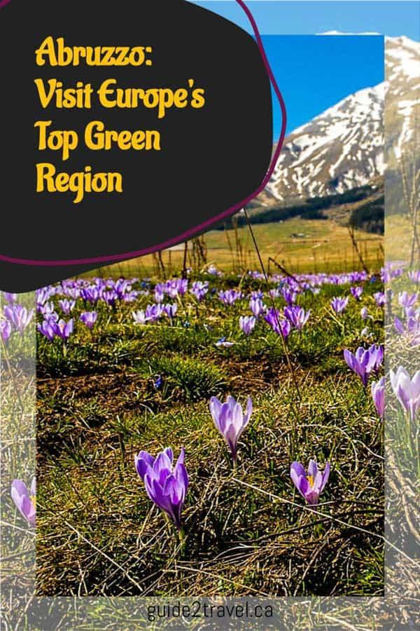 Abruzzo, Italy: Europe's top green region